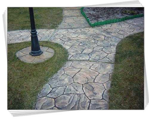 садова доріжка форма для заливки