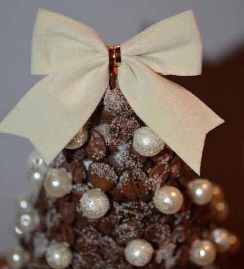 новорічна ялинка з кофе своїми руками