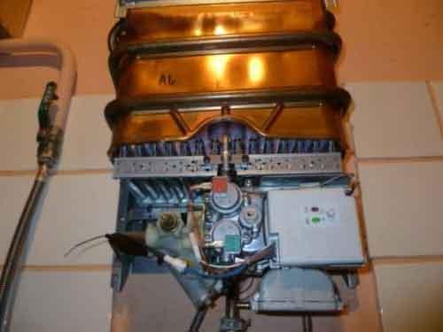 ремонт газової колонки слабий напор води