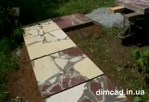 як викласти садову доріжку із плитки фото відео