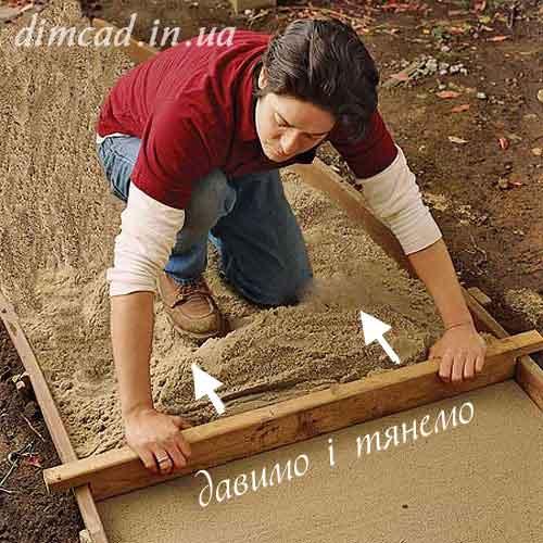 садові доріжки із цегли кирпича своїми руками