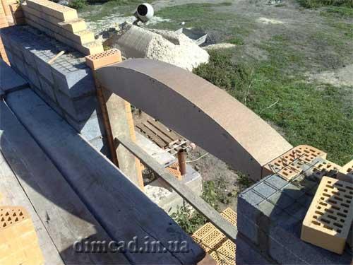 арка із цегли. як зробити на вікні