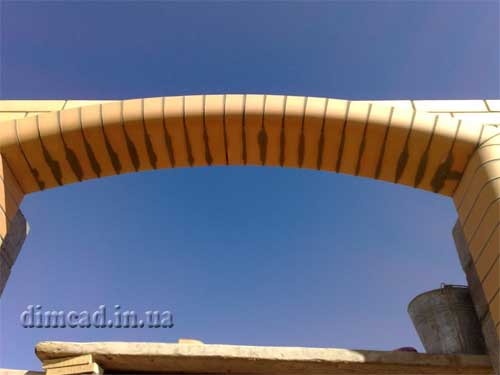 як зробити арку із цегли