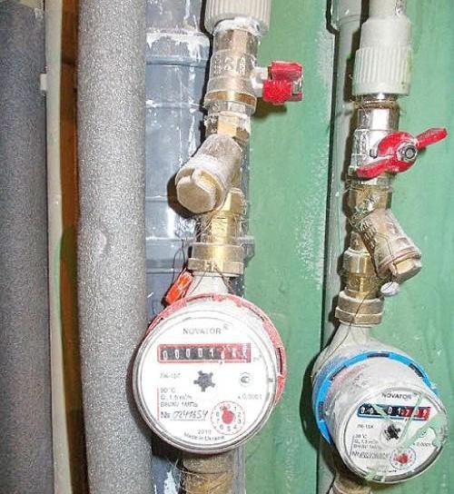 установка лічильника для води