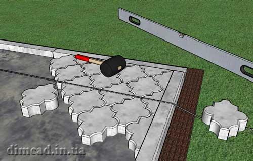 як правильно викласти тротуарну плитку
