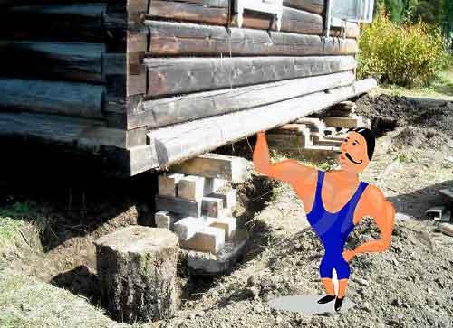 як підняти дерев'яний будинок або хату