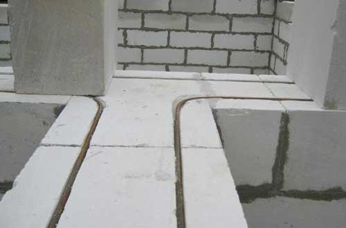 армування кладки будинку із газобетоу