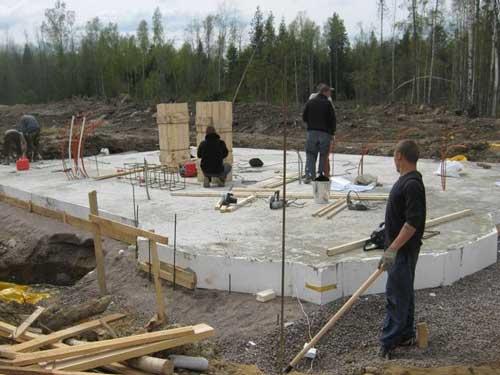 фундамент для будинку із газобетону