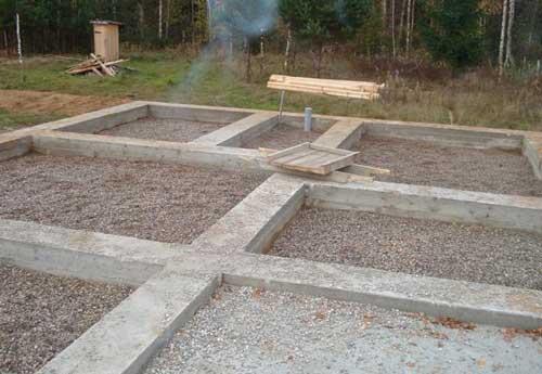 монолітний стрічковий фундамент для будинку із газобетону