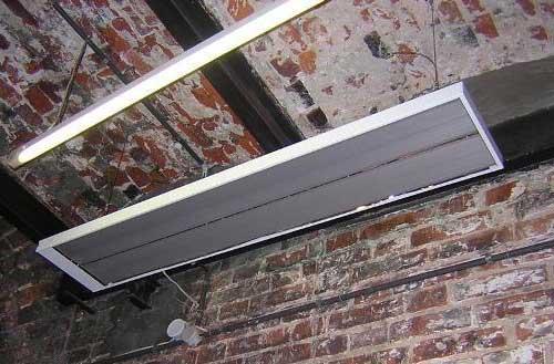 опалення гаража інфрачервоним обігрівачем