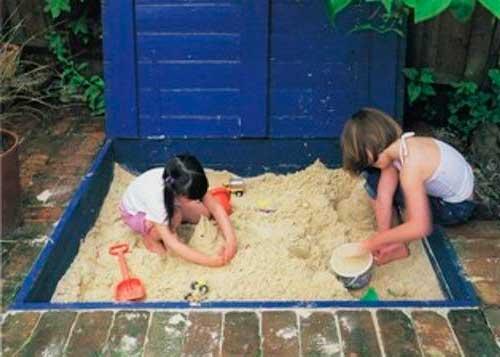 як зробити дитячу пісочницю