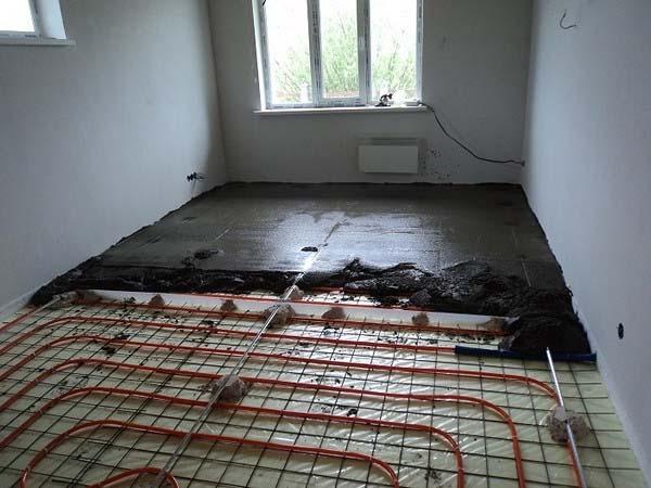 стяжка теплої підлоги