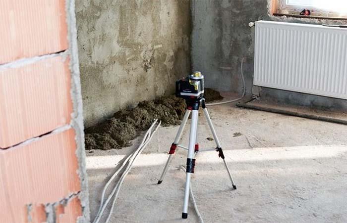 Як виставити маяки для стяжки підлоги фото