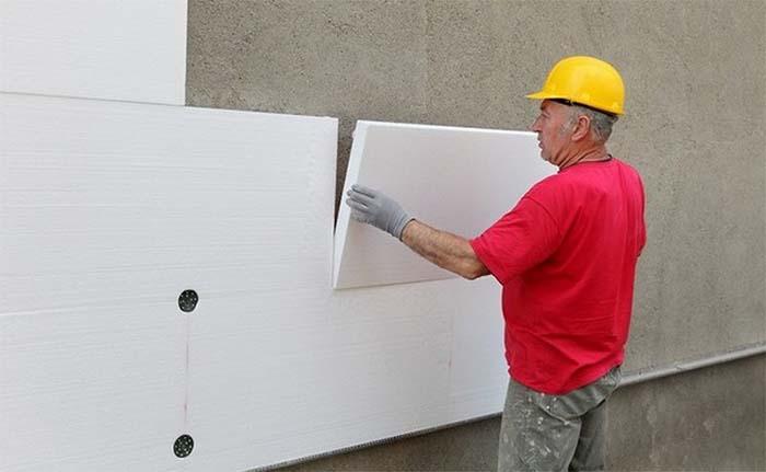 монтаж пінопласту стіну фасад