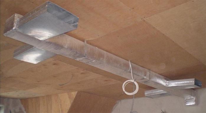 повітряне опалення приватного будинку фото
