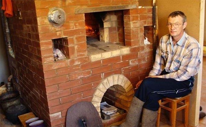 водяне опалення в грубі на дровах фото