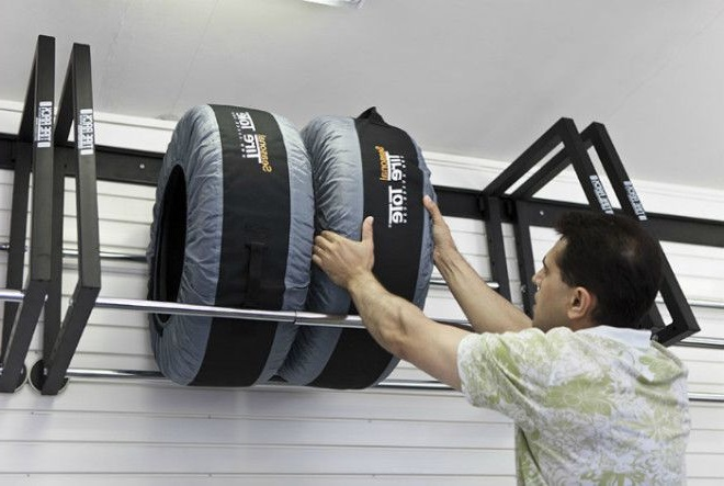Кронштейн для коліс у гаражі