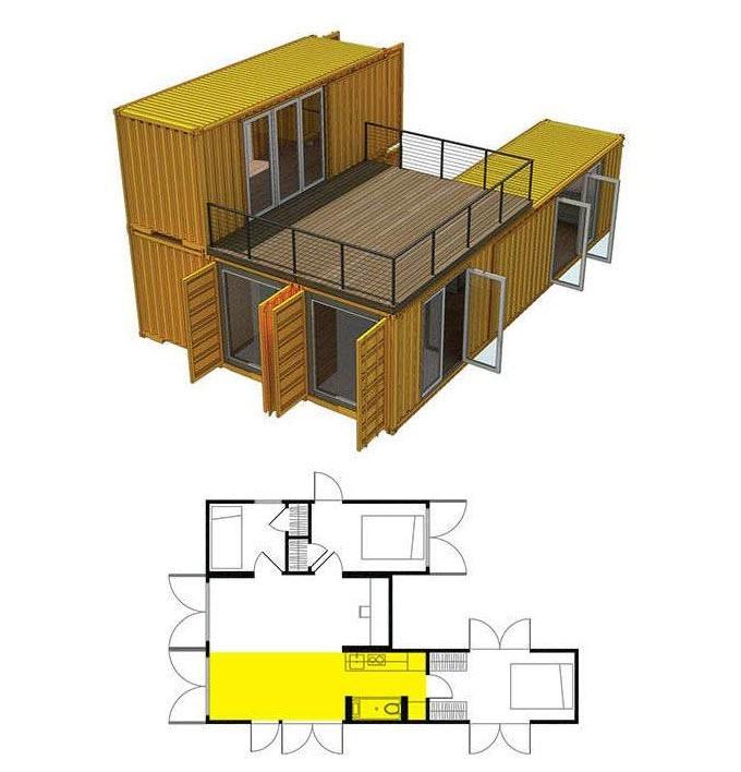 будинок з контейнерів проект