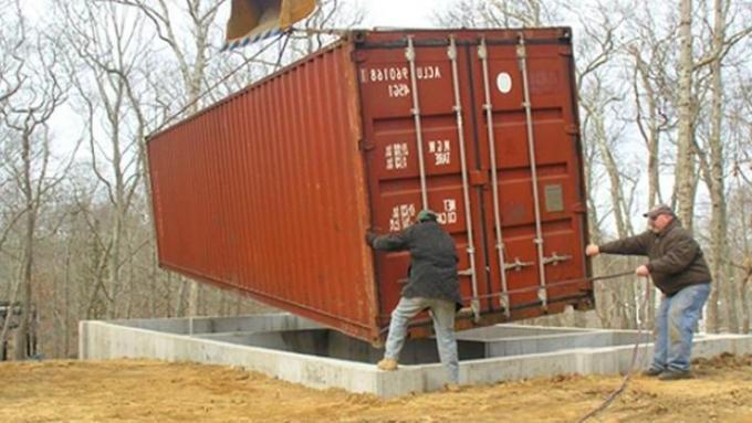 Фундамент під контейнерні будинки