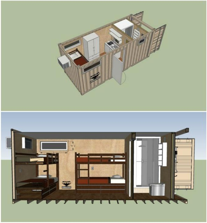 Проект будинку з 1 високого 40 футового контейнера