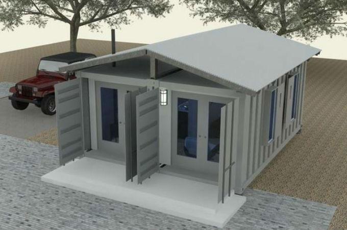 проект будинку із морського контейнеру