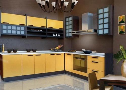 Кухня жовтого кольору фото